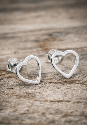 Silver earrings small heart