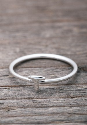 Silver ring T
