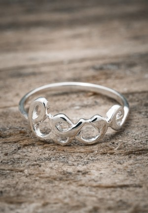 Silver ring love