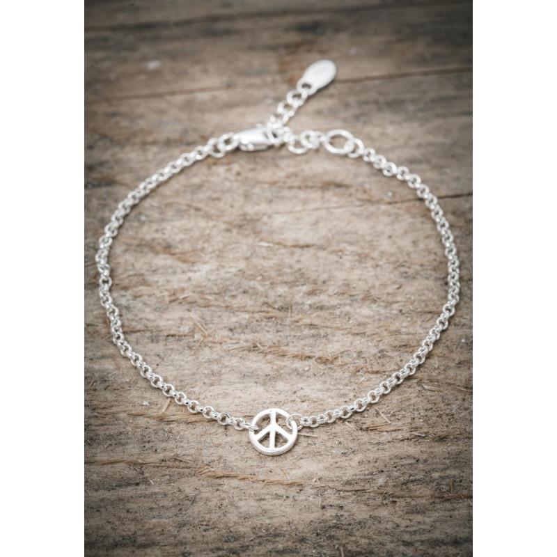 Silverarmband peace