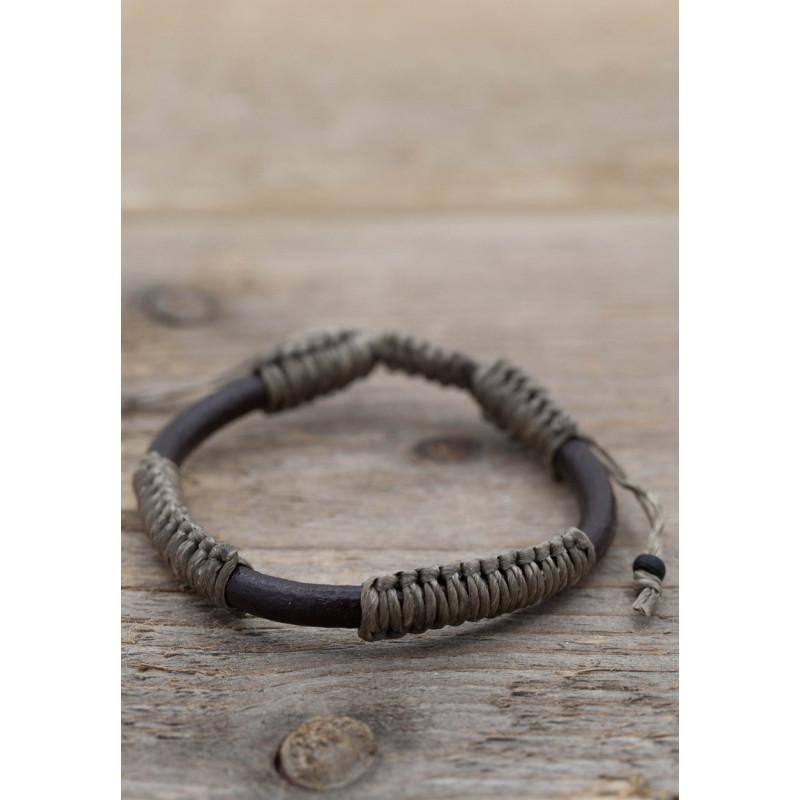 Läderarmband brun