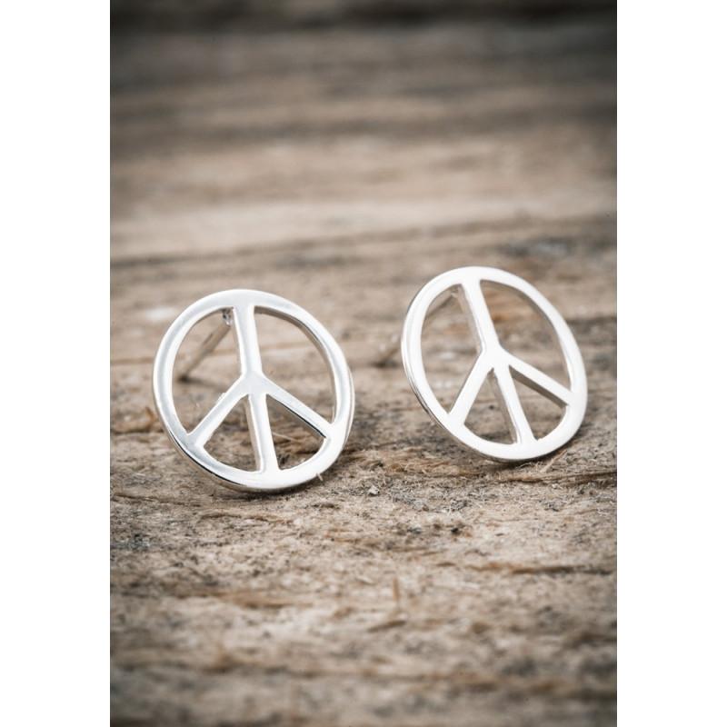Silverörhänge peace stor