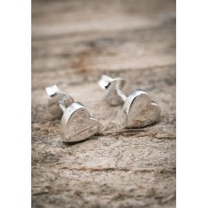 Silverörhängen hjärta