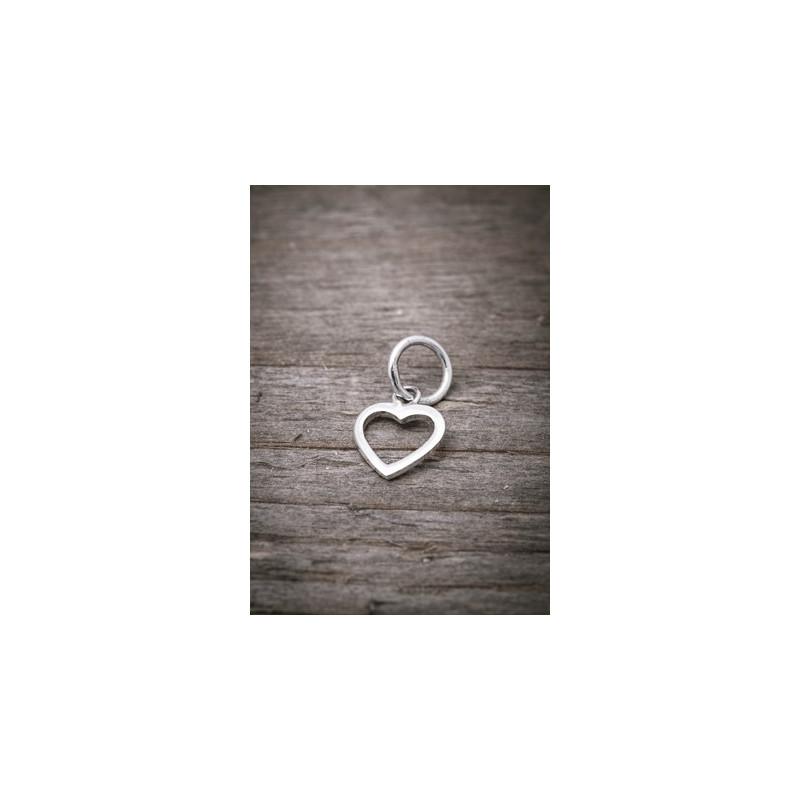Silver pendant small heart