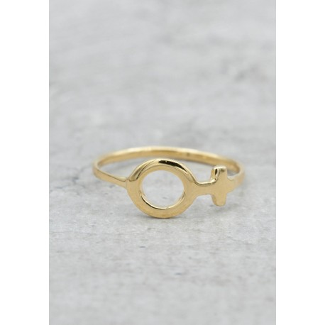 Gold plated ring female