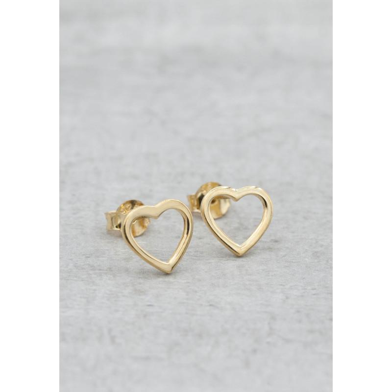 Guldpläterade örhängen hjärta