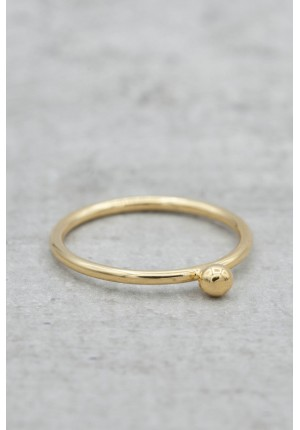 Gold plated ring with mini ball