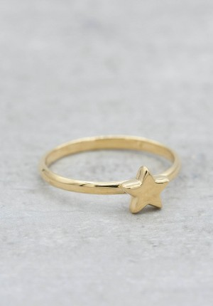 Gold plated ring with star