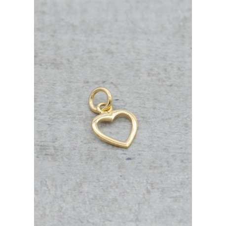 Goldplated pendant heart