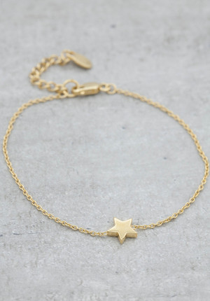 Goldplated bracelet star
