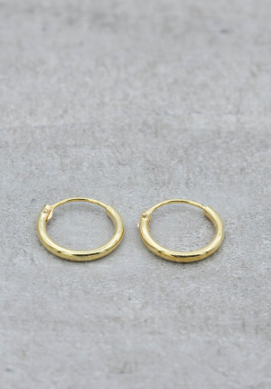 Gold plated creole 10-12 mm