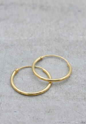 Gold plated creole 16-18 mm
