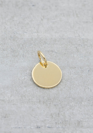 Gold pendant letter tag