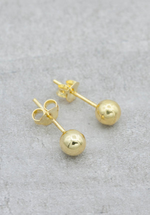 Gold plated earrings 5mm