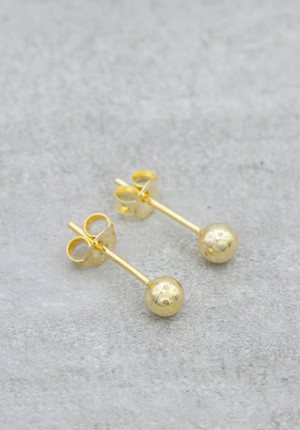 Gold plated earrings 4mm