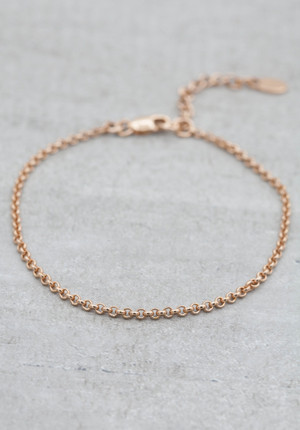 Rose gold plated bracelet
