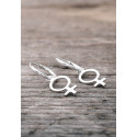 Silver hoops female sign