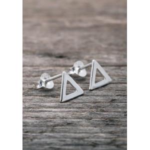 Silverörhängen triangel
