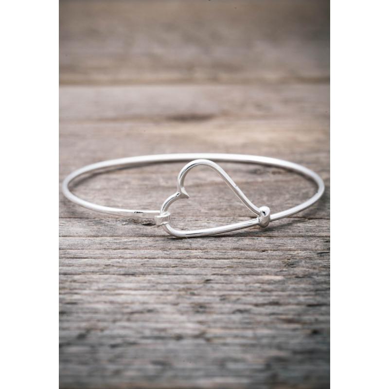 Silverarmband stelt med hjärta