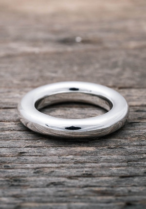 Silver ring chunky