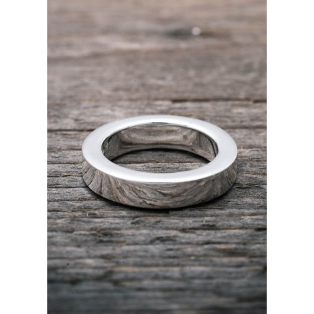Silver ring heavy smooth
