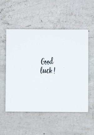 Greetings card Good luck