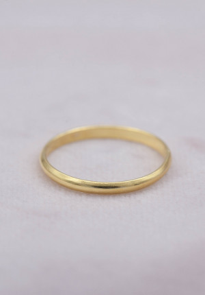 Gold plated ring thin