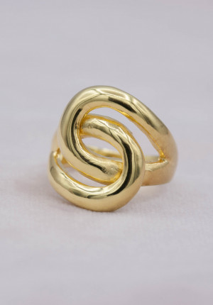 Gold plated ring knot