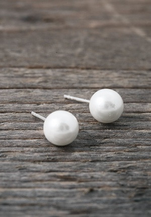 Pearl earrings 8mm