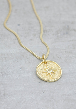 Gold necklace lucky coin star