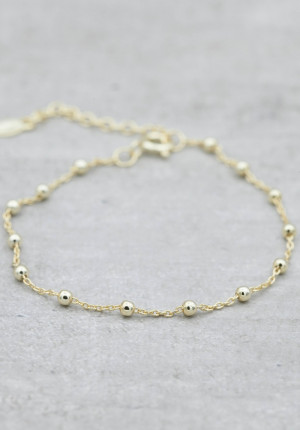 Gold bracelet thin with balls