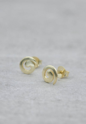 Gold plated earrings Lucky spiral
