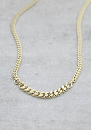Gold necklace chunky chain