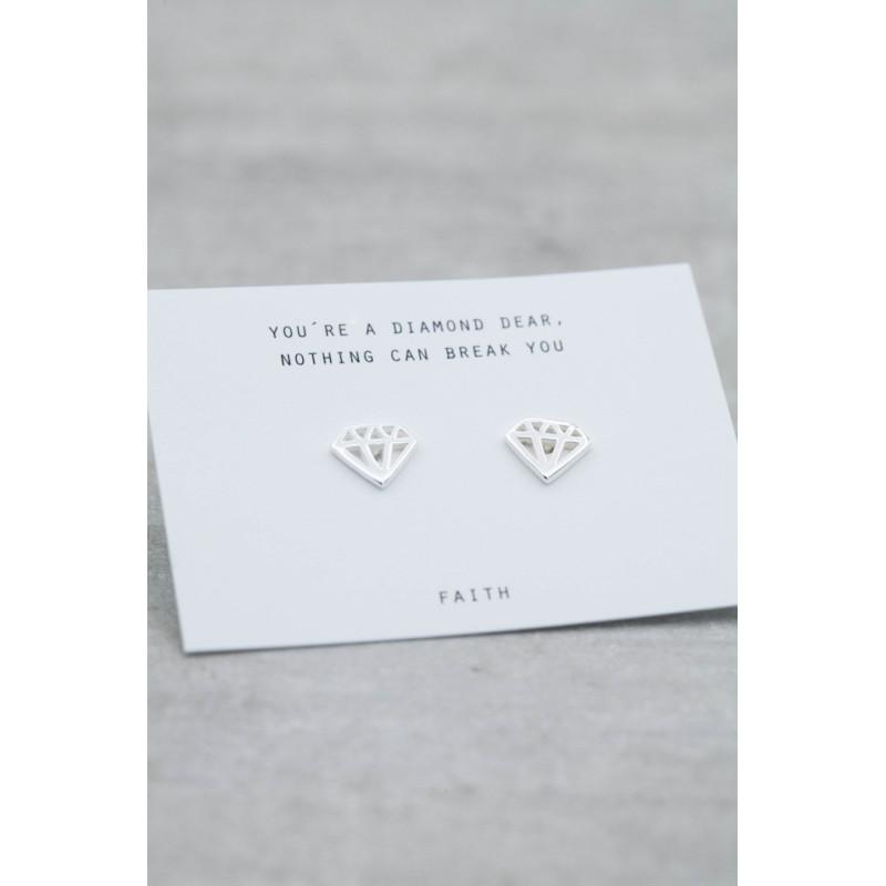 Silverörhängen diamant