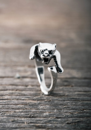 Silver ring panther
