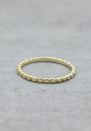 Gold ring with dots