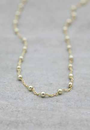 Silver chain thin with silver balls