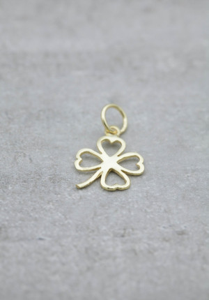 Gold charm four leaf clover
