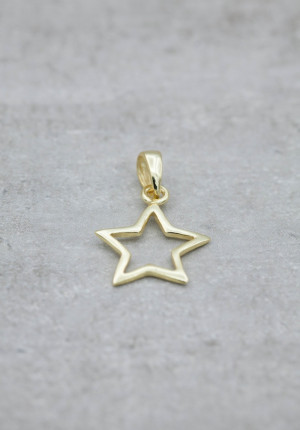 Gold  necklace with a star