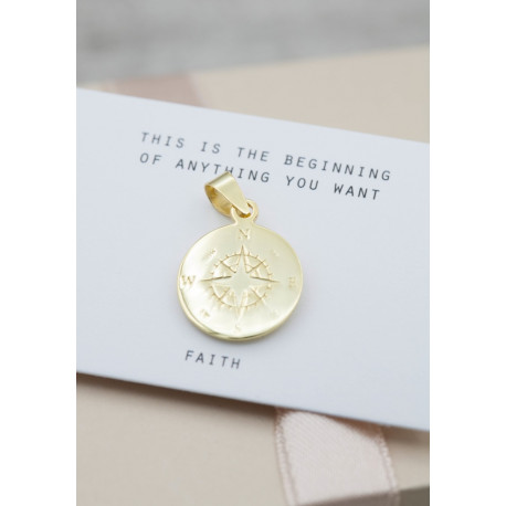 silver pendent big compass - limited edition