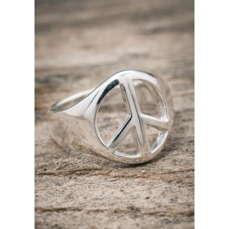 Silverring stor peace