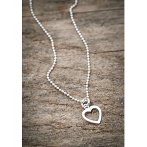 Silverhalsband hjärta